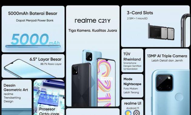 Realme C21Y Harga dan Spesifikasi